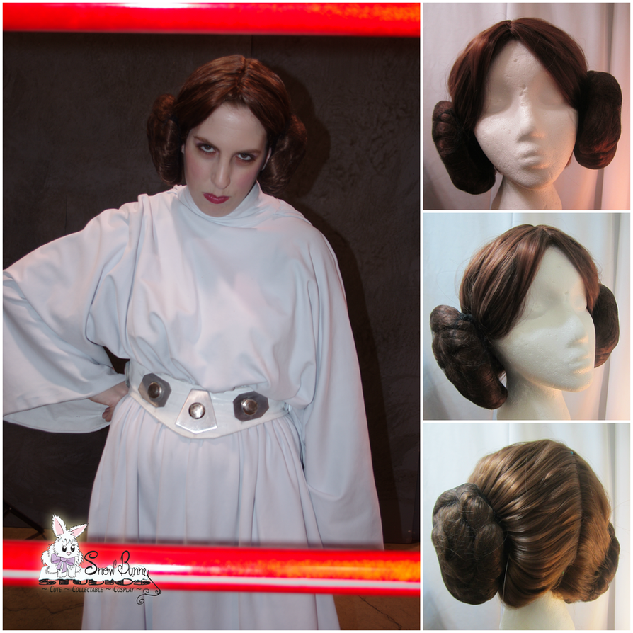 Commission - Princess Leia (A New Hope) - Wig by SnowBunnyStudios