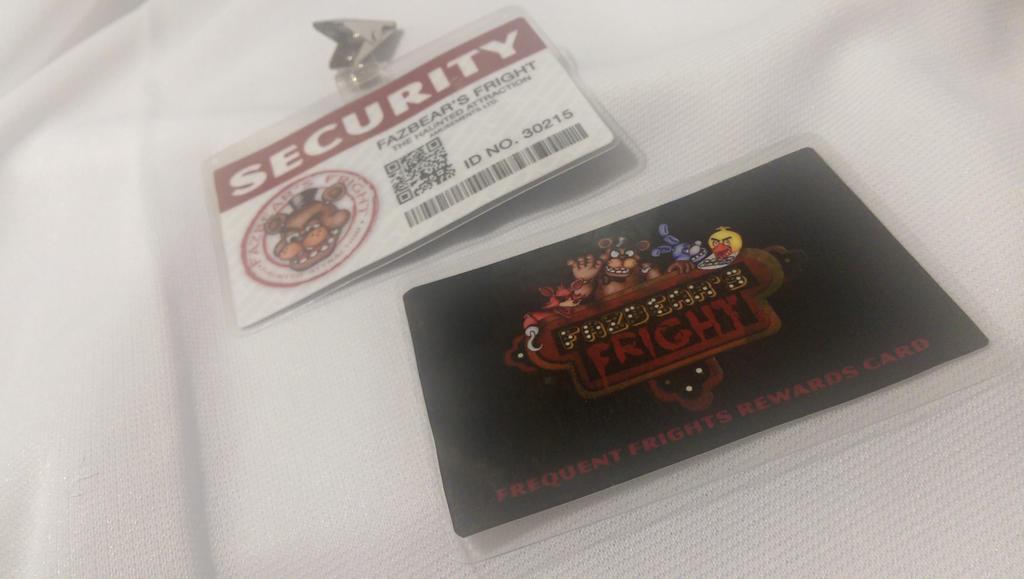 Fazbear's Fright - ID Badge and Rewards Card by SnowBunnyStudios