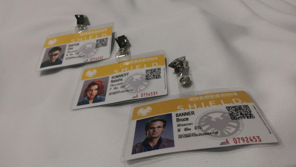 S.H.I.E.L.D. Agent Badges by SnowBunnyStudios