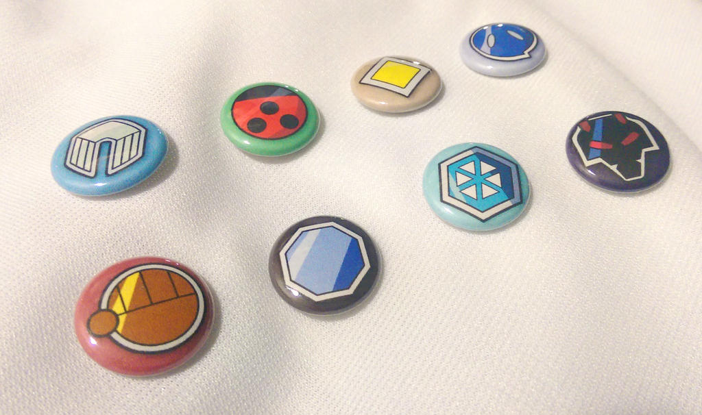 Johto League Pokemon Gym Badge 1'' Buttons by SnowBunnyStudios