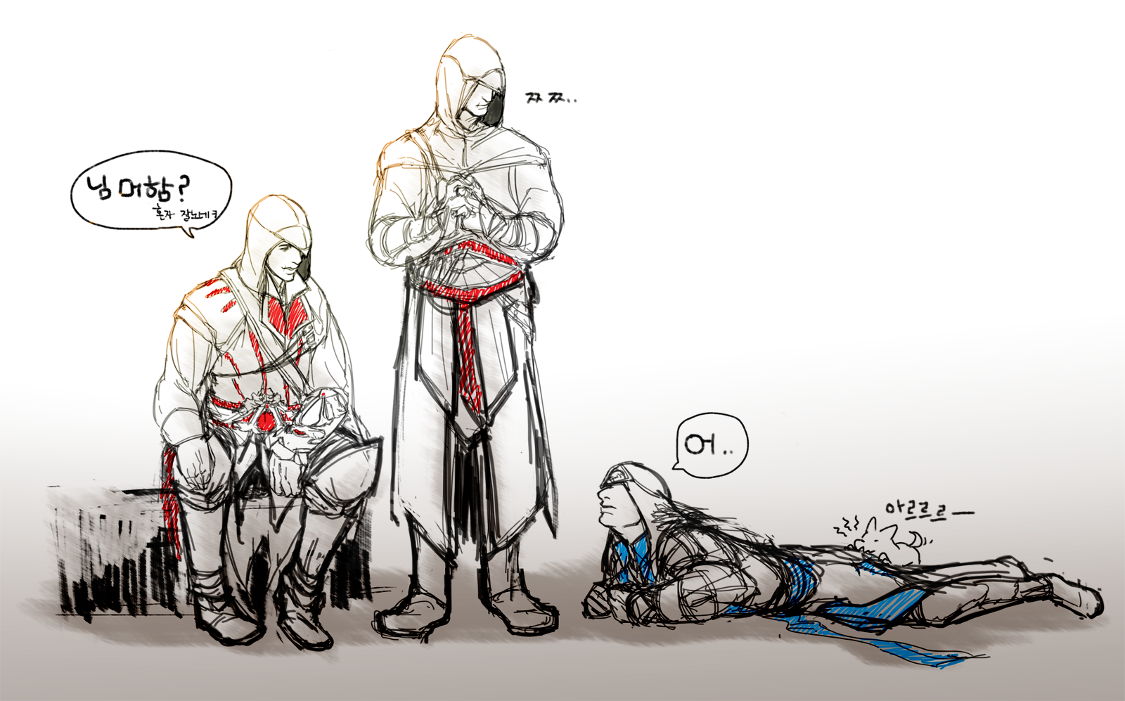AC  Ezio Altair Connor by lcl920Connor And Ezio