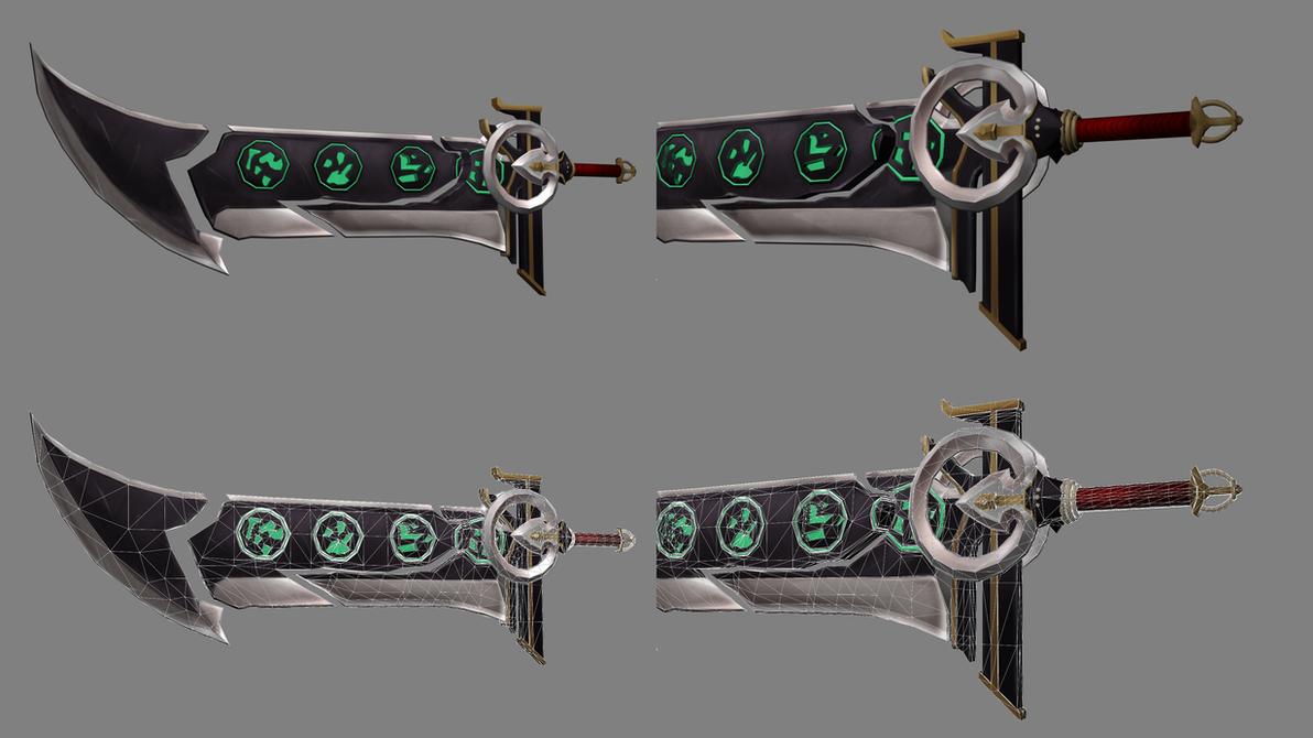 3d Sword Model By J1tah Deviantart – Dibujos Para Colorear