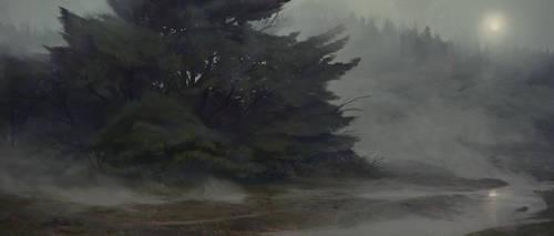 Misty Tree by MartinBailly
