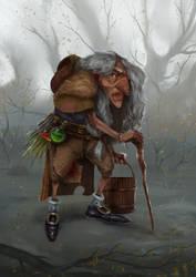 Akiesmenmoo - the witch by MartinBailly