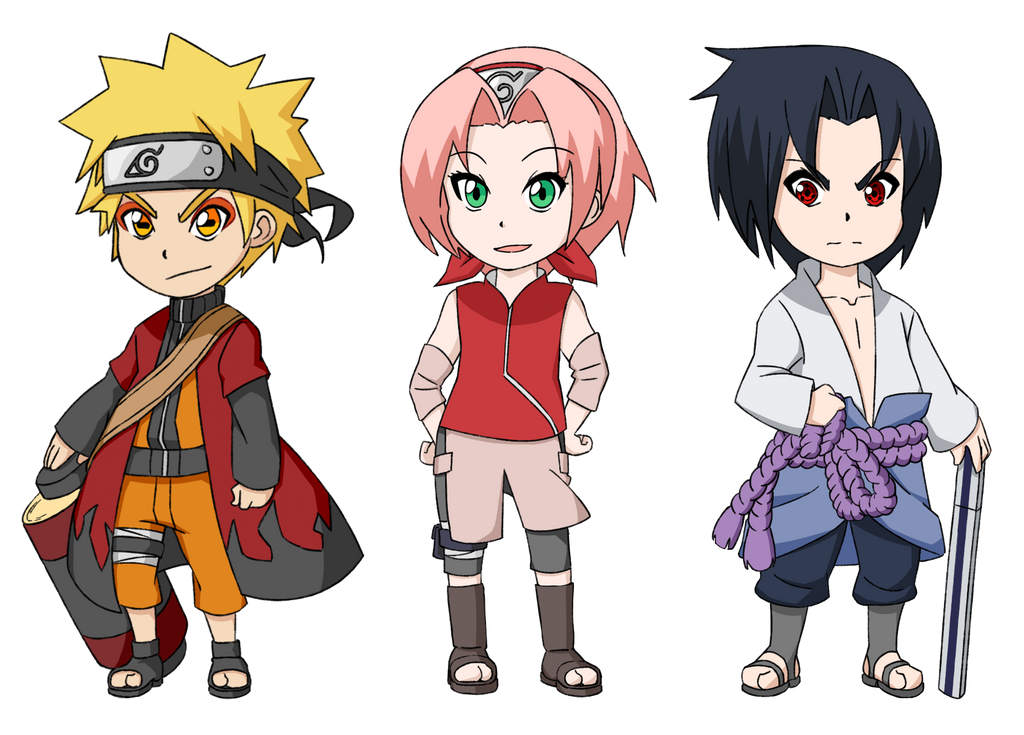 Naruto sticker set by tkdcory