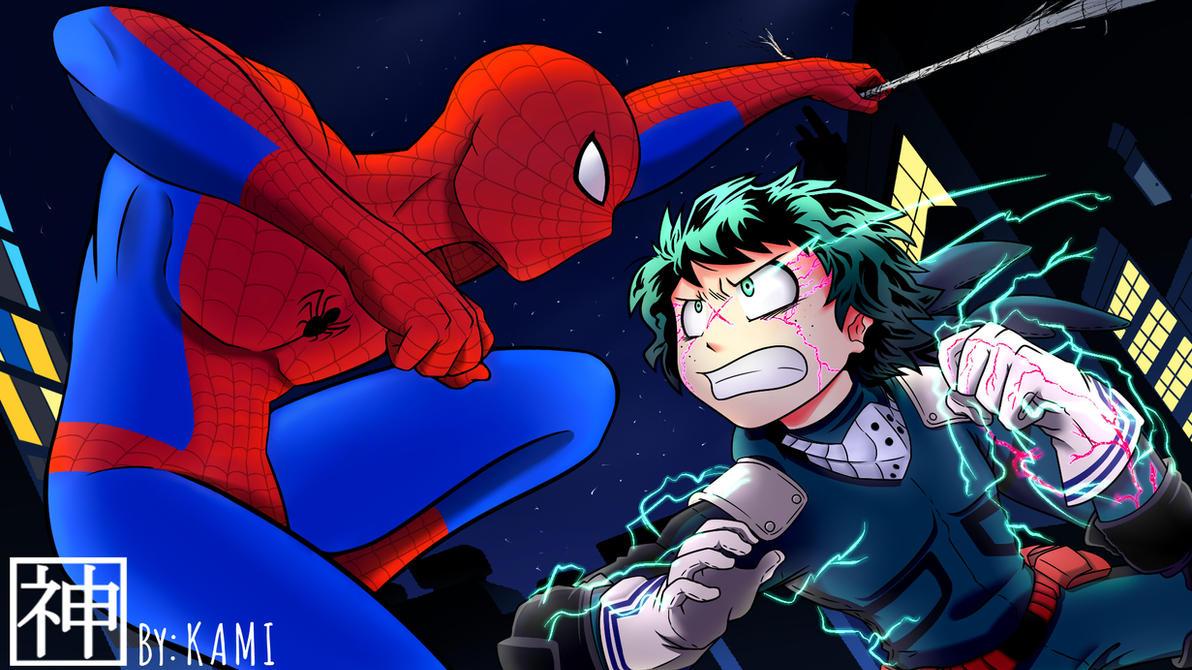 Spiderman vs Midorya (BNHA vs Marvel). by L09266