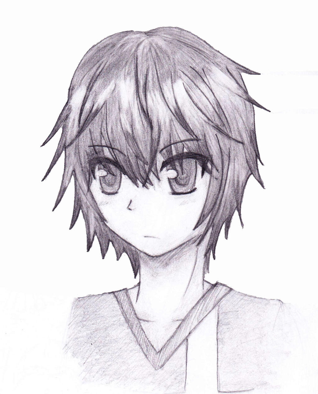 sketch anime boy by blazingskies on deviantart