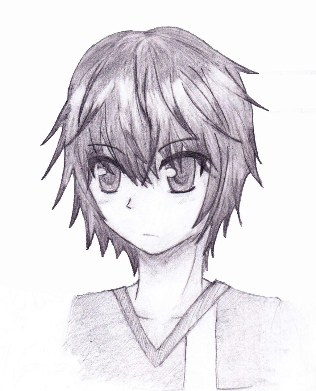 Sketch - Anime Boy by Blazing-Skies on DeviantArt