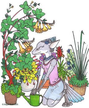 Dusk among the Flowers - fin