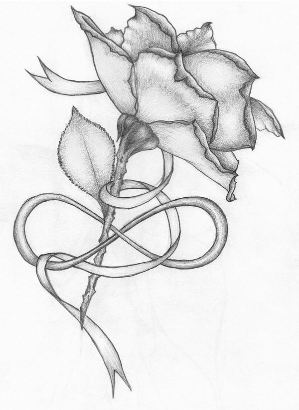 rose and ribbon tattoo...