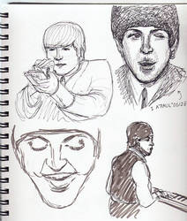 Hard Day's Night sketches