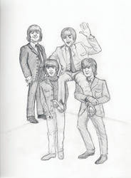 The Beatles Carry Paul