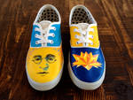 John Lennon Custom Sneakers by i-scene-death