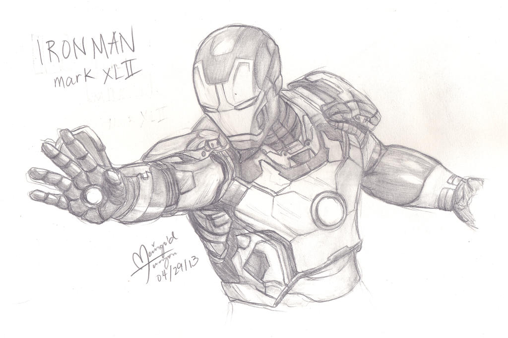 mark 42 by fangirloftheopera - Iron Man Coloring Pages Mark