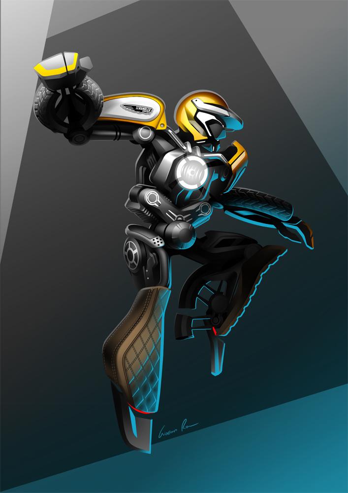 BikeBot - Ducati Scrambler by Jack85