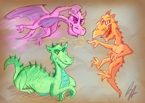 Vibrant Dragons