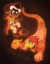 Tanuki's Burning-Birdie