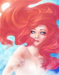 Human Ariel Underwater