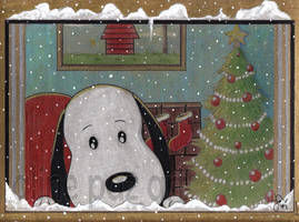 snoopy is waiting for chrismas by alinepaz