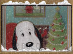 snoopy is waiting for chrismas