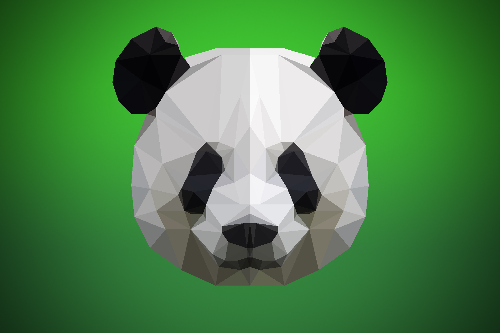 low poly panda by georgehd on deviantart. Black Bedroom Furniture Sets. Home Design Ideas