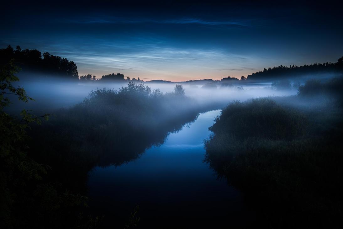 Noctilucent Clouds by MikkoLagerstedt