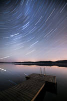 Star Trail Reflection by MikkoLagerstedt