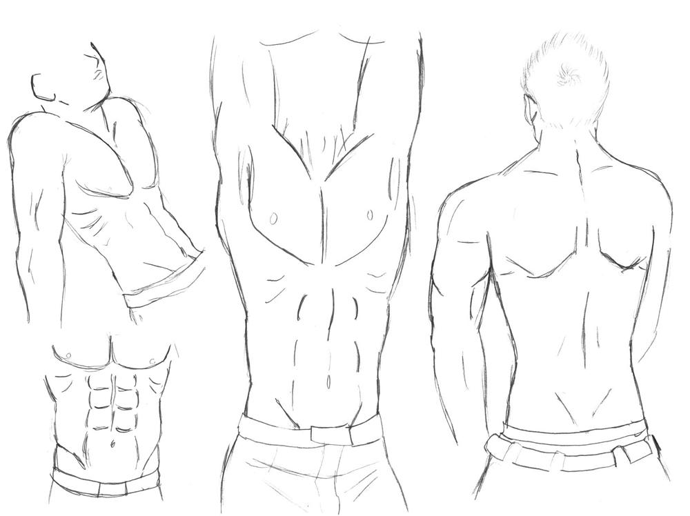 man body drawing - 1000×748