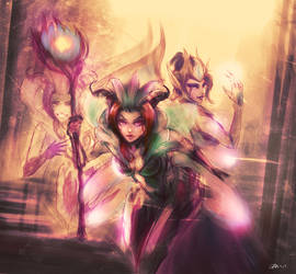 League of Legends - Morgana and LeBlanc