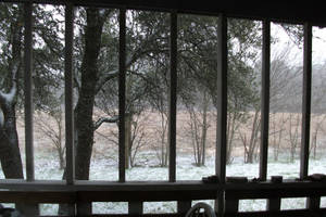 Texas Snow by aquaviann