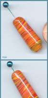 Flame Haze - Glass Bead by aquaviann