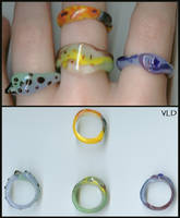 Glass Rings: Four Elements by aquaviann