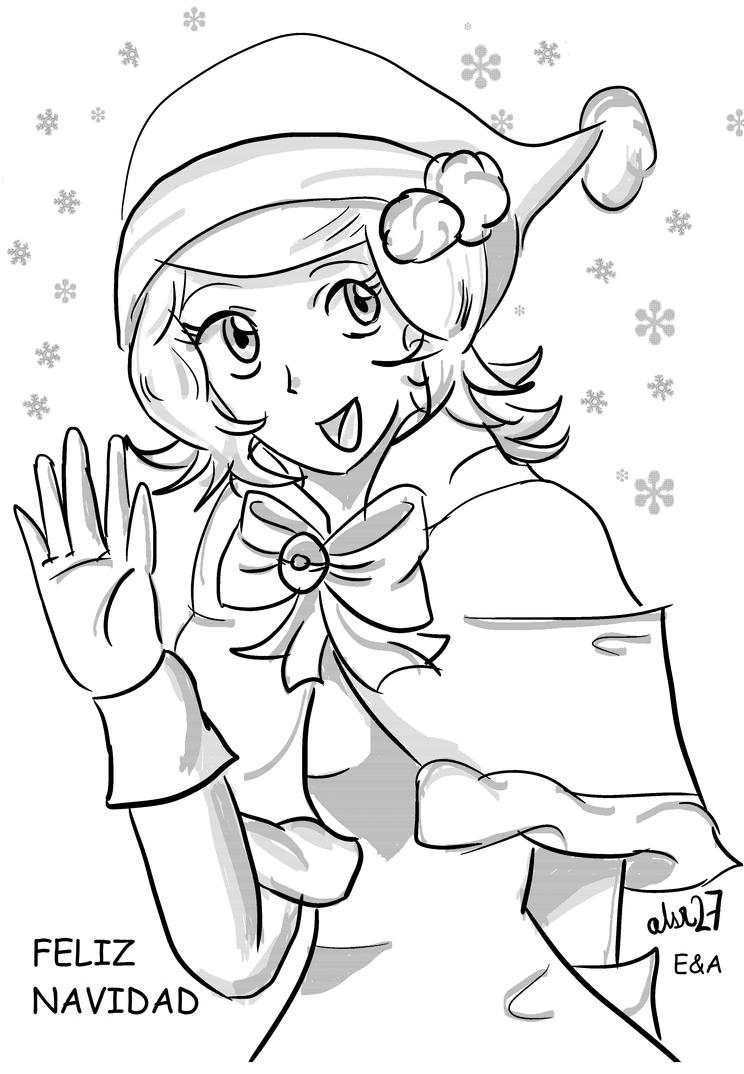 Christmas Serena new look Sketch by Xalsr27X