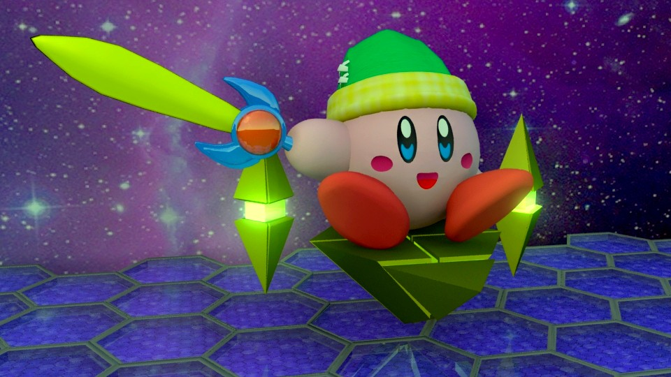 Kirby Air Ride - 3D Maya by Xalsr27X