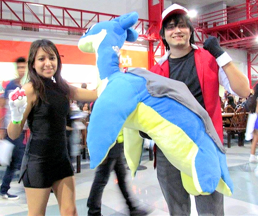 Pokemon Red and Blue Cosplay with Lapras by Xalsr27X