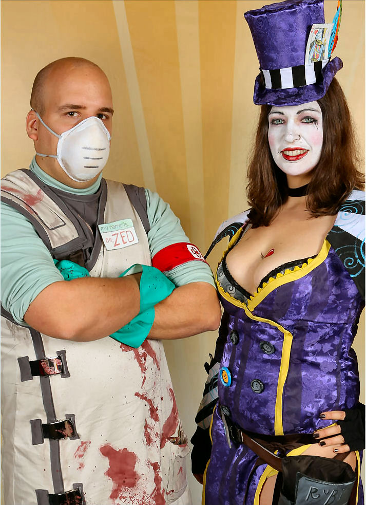 Mad Moxxi and Dr. Zed - Hero Shot by LadyCrankypants