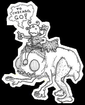 A... (sigh), Bumpkiss riding a Grumpkin...