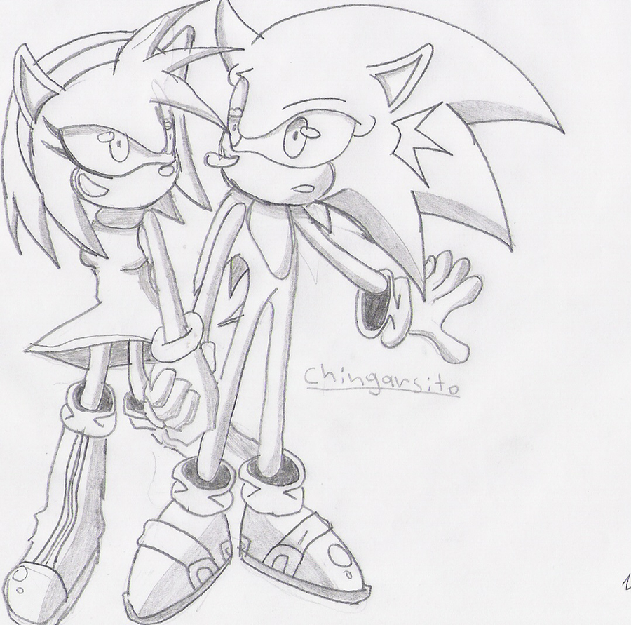 sonic y amy by chingarsito2 on DeviantArt