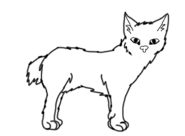FREE short tail cat lineart by Kitty61553