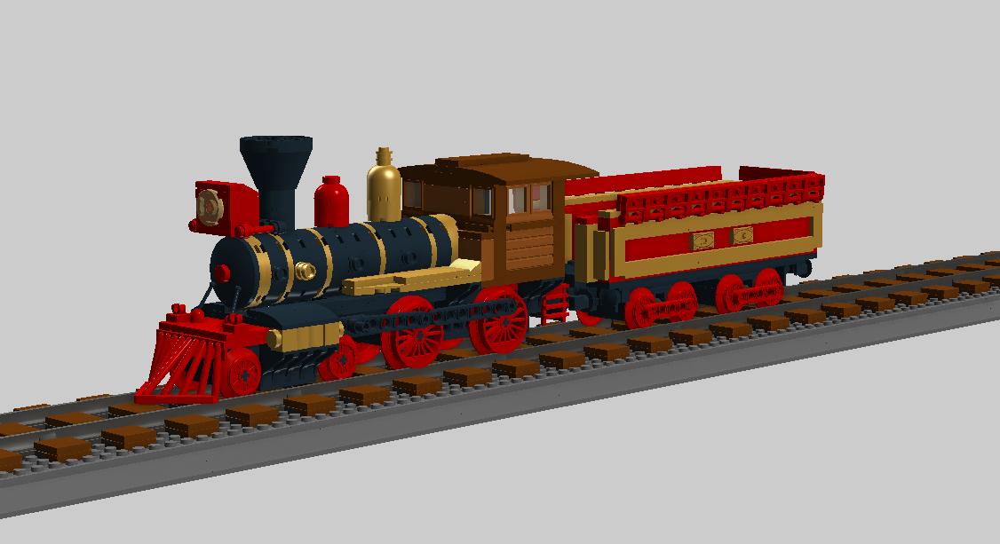 Lego Steam Train Lego American Steam Train 2 2