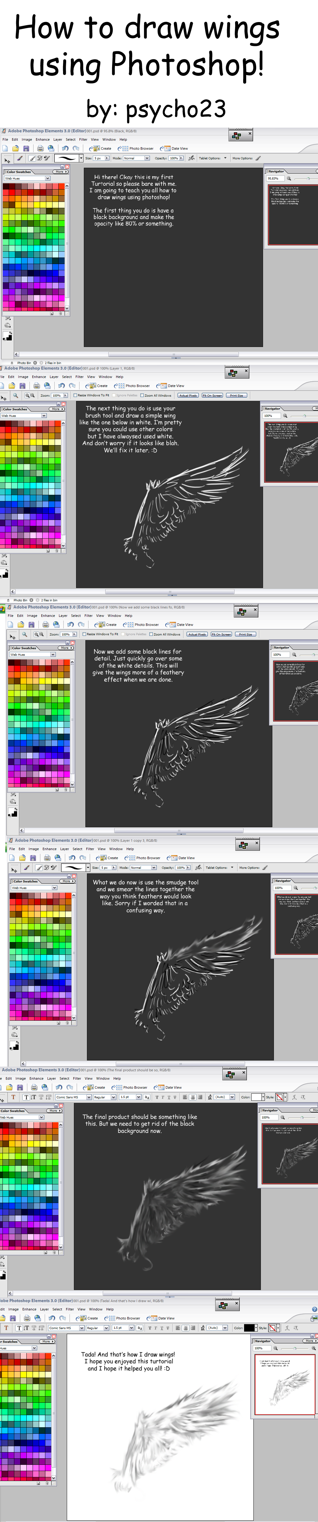How to Draw Wings in Photoshop by psycho23