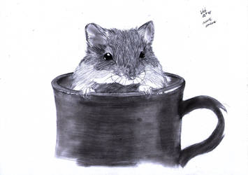 A Cup of Hammie, Anyone? by Pawlove-Arts
