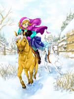 Snowy Race by Pawlove-Arts
