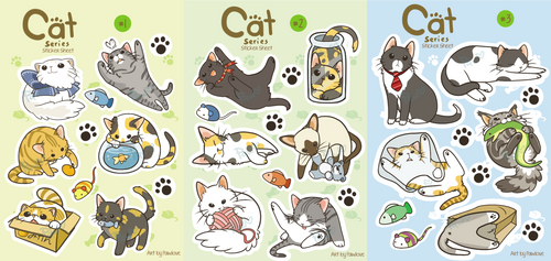 Cat Sticker Sheets