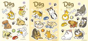 Dog Sticker Sheets by Pawlove-Arts