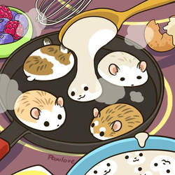Robo pancakes by Pawlove-Arts