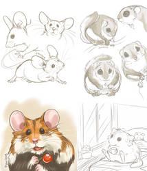 Patreon sketches Dec 2017 by Pawlove-Arts