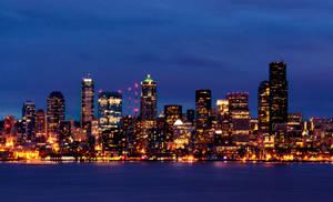 night seattle cityscape
