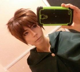 WIP Eren Jaeger makeup/ wig test by Hotaru-Mekanikaru