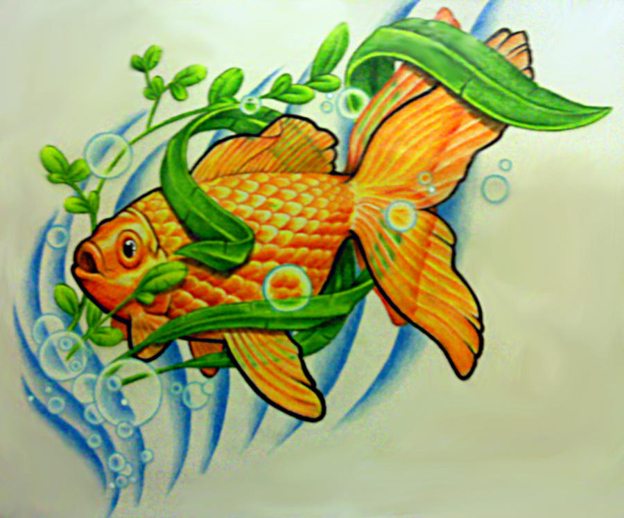 Goldfish Tattoo Design by